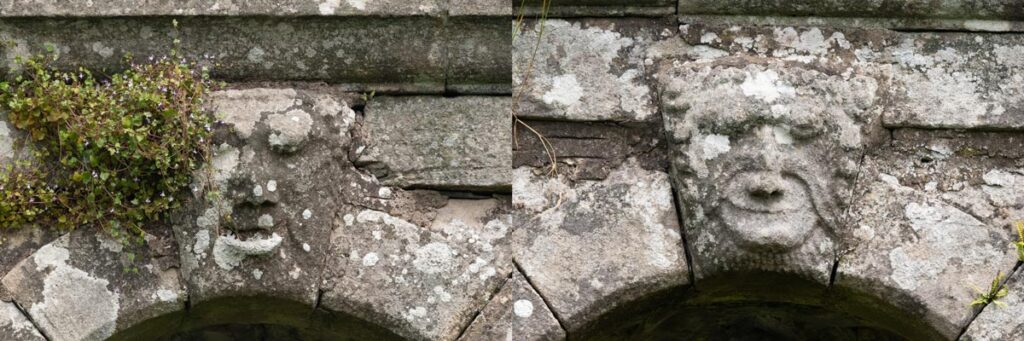 Faces carved into the stone in Killearn's old kirk
