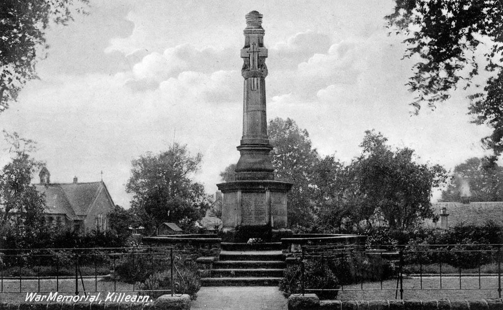Black and white photo of Killearn War Memorial
